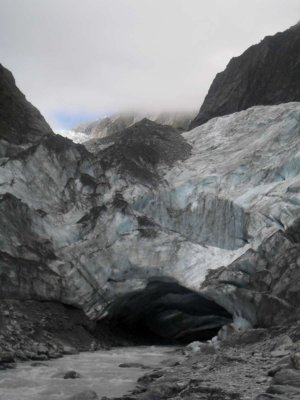 The foot of the glacier