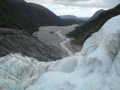 The valley of Frnaz Josef glacier
