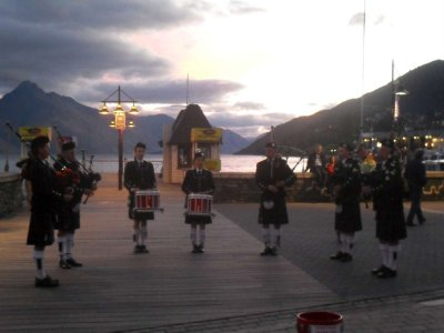 Queenstown sunset and bagpipes
