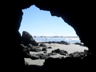Cave silhouette