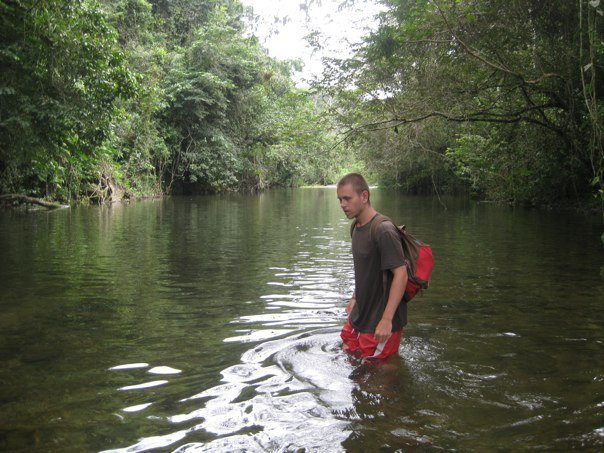 Wading in the jungle river 4