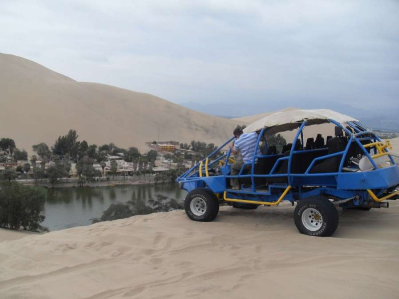 Our buggy and Huacachina