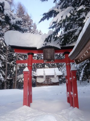 shrine near the snow monkey