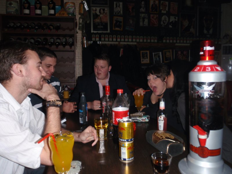 drinking games at 'the green mile' a Great bar in Shenyang