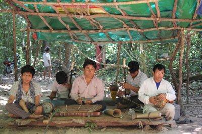 Khmer musicians around Angkor Temples