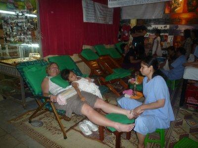 Massage by blind in Siem Reap Night Market