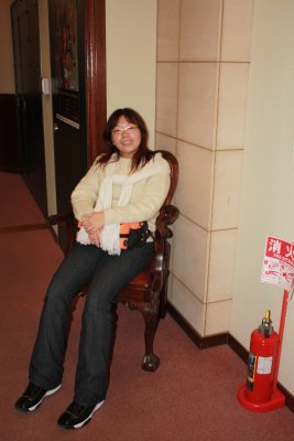 Resting at a corner of Ishiya Chocolate Factory