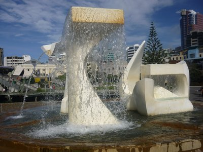 Water Feature on Wellington Waterfront