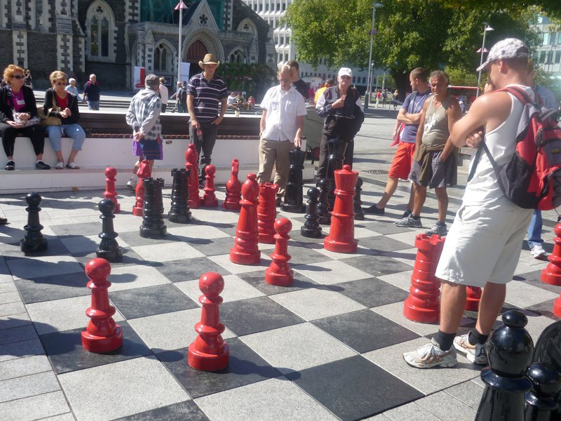 Giant Chess in Cathedral Square