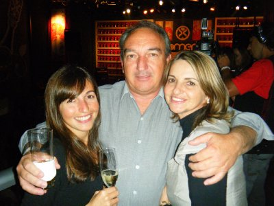 Flavia and her parents