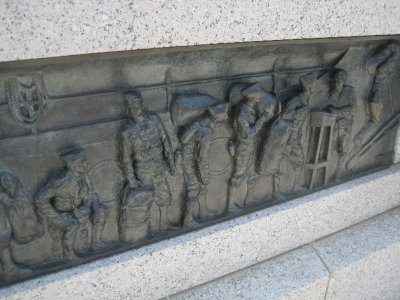 Bronze Reliefs at the World War II Memorial