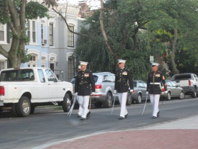 Marines Practicing at 8th and I