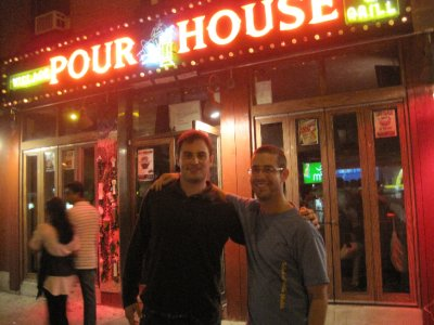 Brasky and I in front of the Pour House