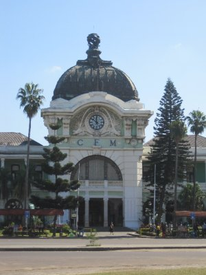The Maputo train station