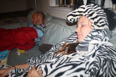 Slept like a baby....and a zebra!