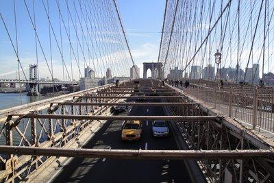 A view from Brooklyn Bridge