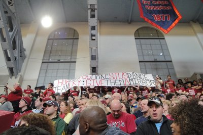 "Funny Banner - ""How do you make the St.Jo's dance team cry: Show them a mirror"