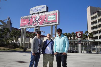 Me, Coops and Mark at Buccaneers Stadium