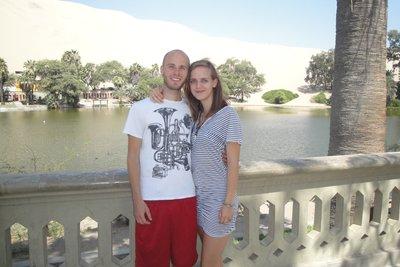 Tourist photo alert - Jana and Me at the Oasis