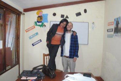 Spanish Teacher and me...sometimes I feel like a giant!
