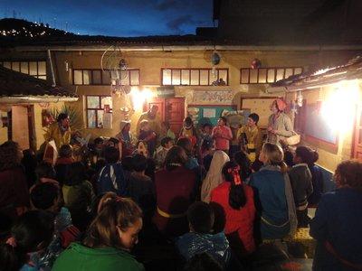 Friday show at Aldea Yanapay School