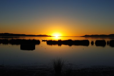 Sunrise over Lake Titicaca