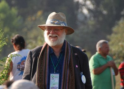 John Jeavons at a GROW BIOINTENSIVE workshop in Mexico (Photo Credit: Amy Melious)