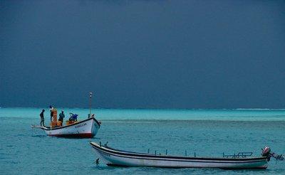 Light blue sea