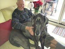 Dog and man,  December, 2011