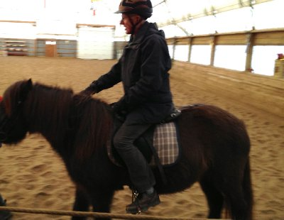 Riding Jane&#39;s Icelandic Pony, Penetang 2012