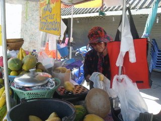 Street Vendor of fresh fruit