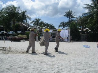Koh Samui ~ men moving rock