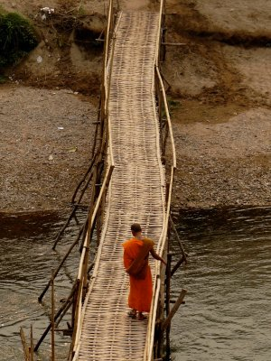 Monk Crossing Nam Ou
