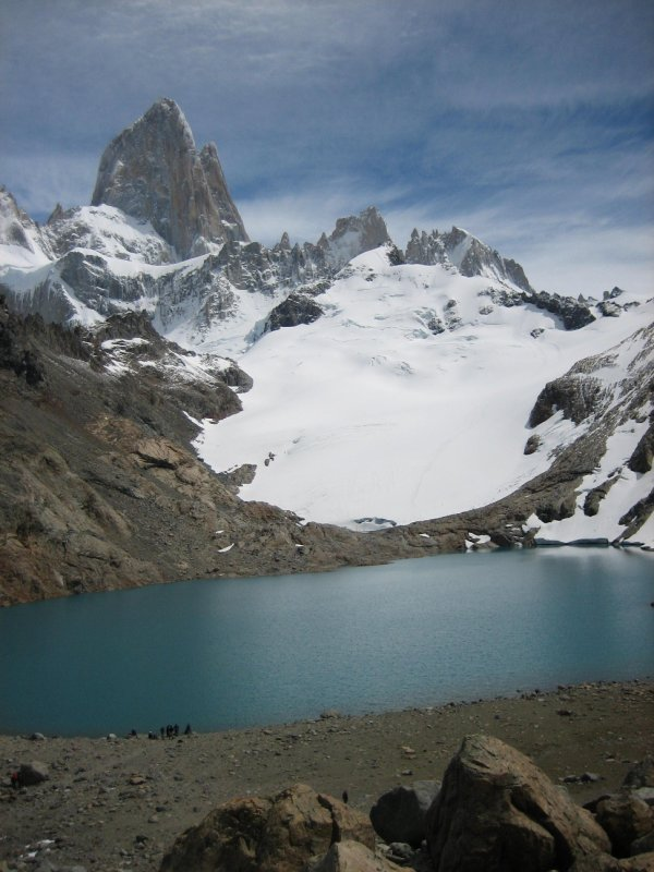 'Laguna de los Tres' aan de voet van 'Cerro Fitz Roy', El Chaltén