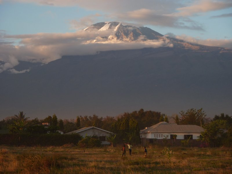 Kilimanjaro at dusk.