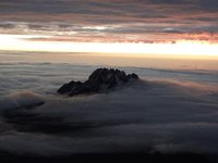 Sunrise at the top of Kilimanjaro