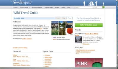 Travellerspoint Travel Guide Screenshot by Gretchen Wilson-Kalav