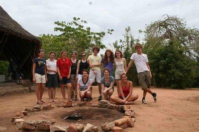 Group photo @ Mwaluganje Elephant Sanctuary