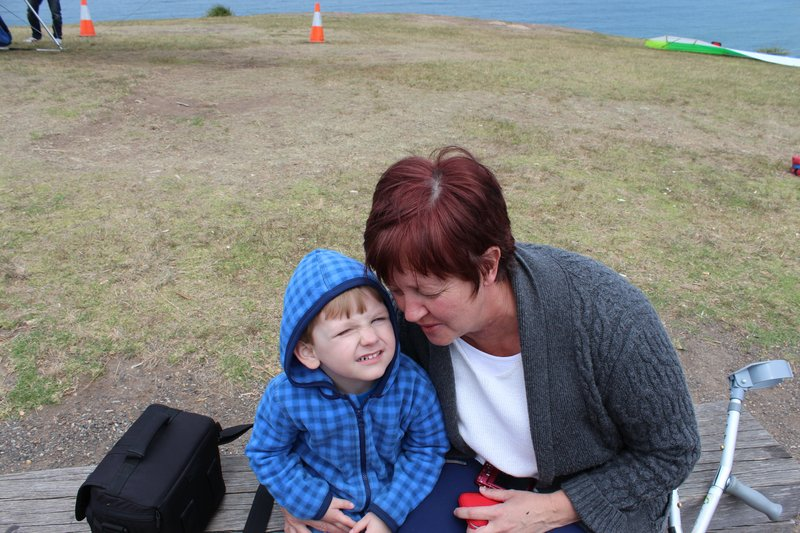 Tanya and little Charlie at Stanwell Park.