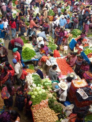 Colourful Mayan markets