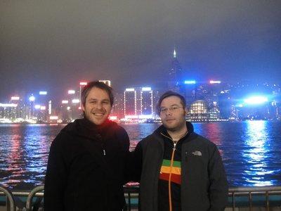 Hongkong bei nacht und nebel