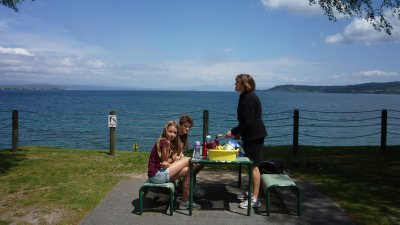 Picnic at Lake Taupo