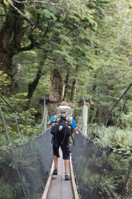 Ayden on Swing Bridge {Routeburn}