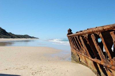 Sunken Ship on Fraser Island