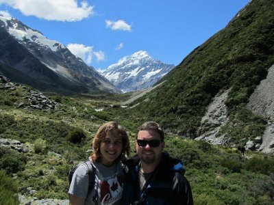 The Parents as soon as we saw Mt Cook