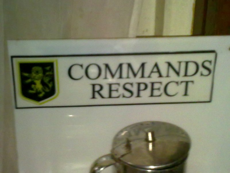 commands respect