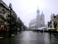 St. Mary's Church in Krakow's Old Town Square