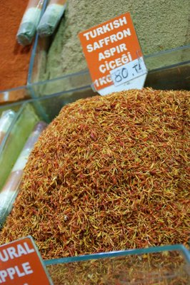 Saffron at the spıce markets