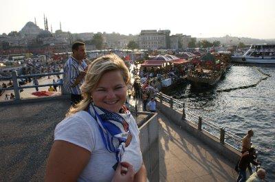 Jess at the Galata Brıdge