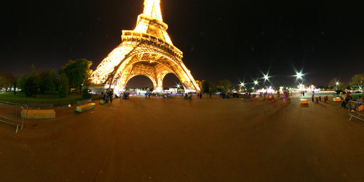Eiffel tower at illuminated